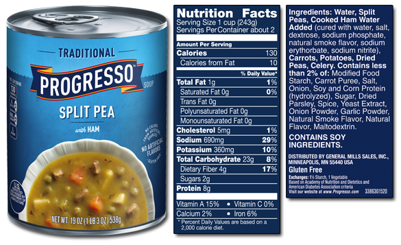 Split peas nutrition